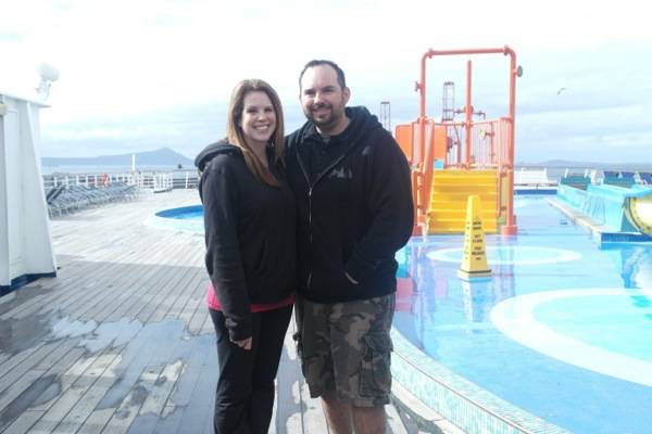 couple on ship as first time cruiser