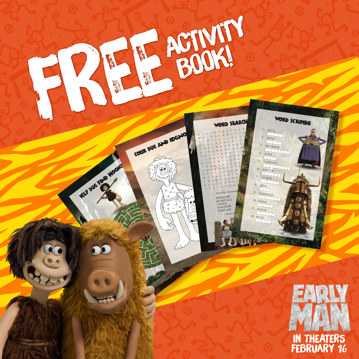 Early Man Activity Book #EarlyMan #movie #movies #giveaway #ad