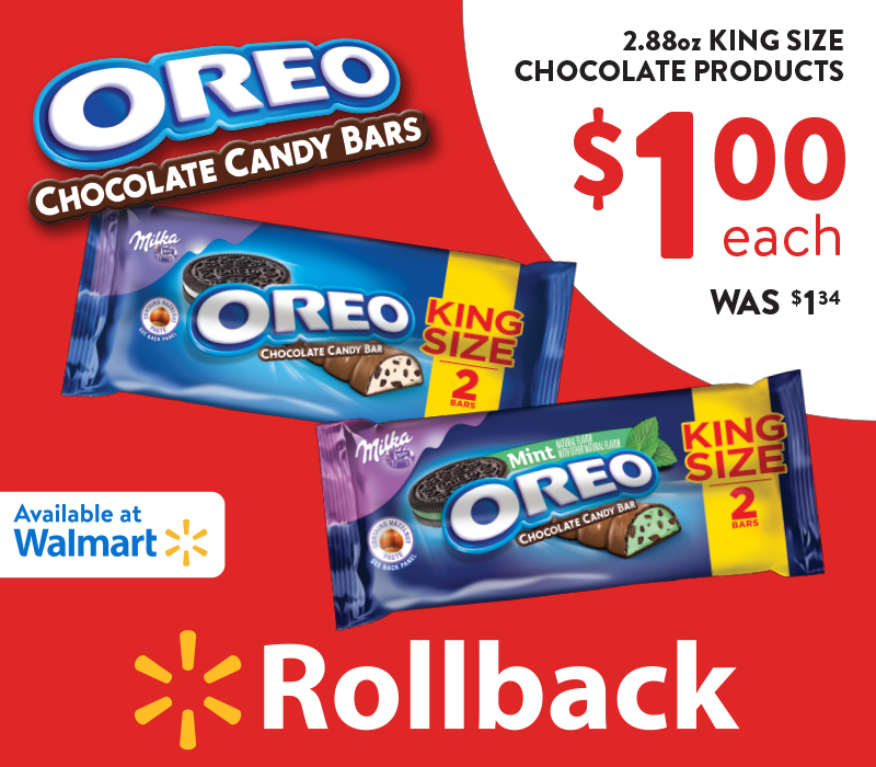 #OREOChocolate #KingSizeRollBack #Walmart #IC #food #foodie #chocolate #ad