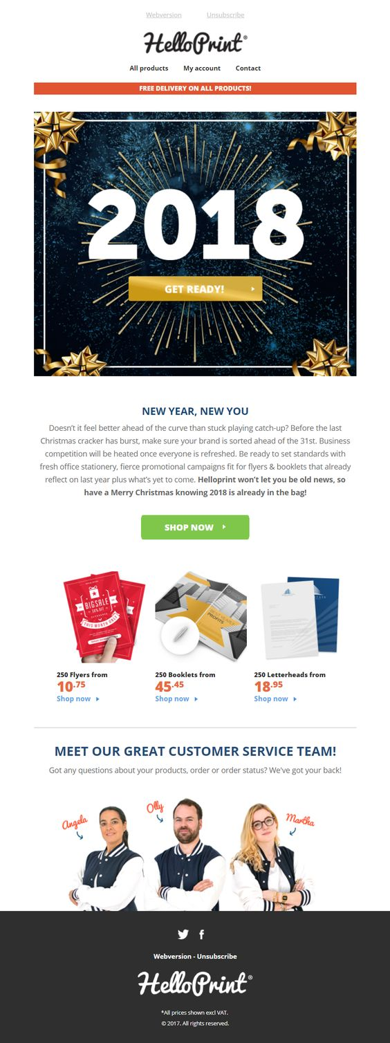Hello Print New Year #Emma #NewYear #email #Marketing #ad