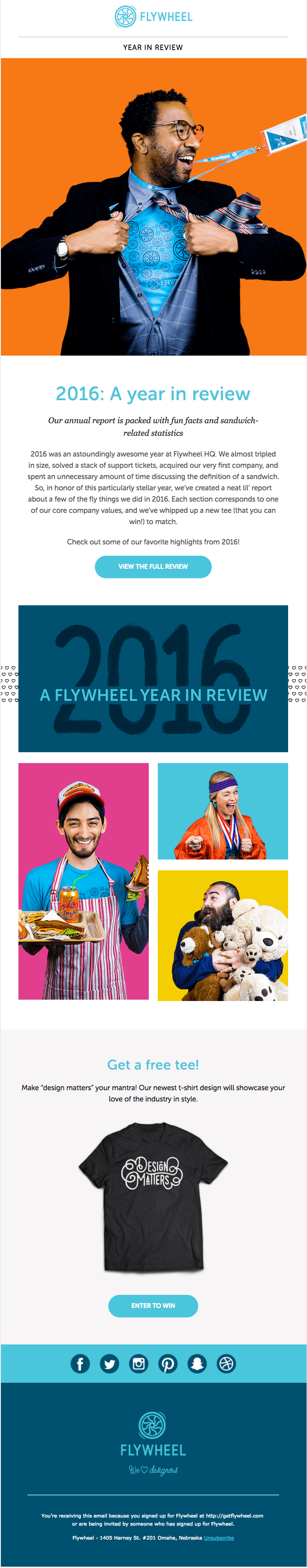 Fly Wheel New Year #Emma #NewYear #email #Marketing #ad