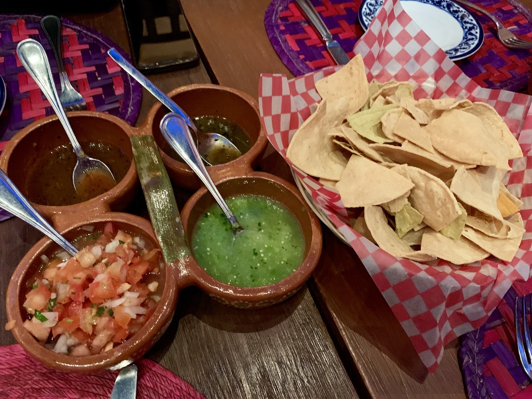 chips and salsa and guacamole