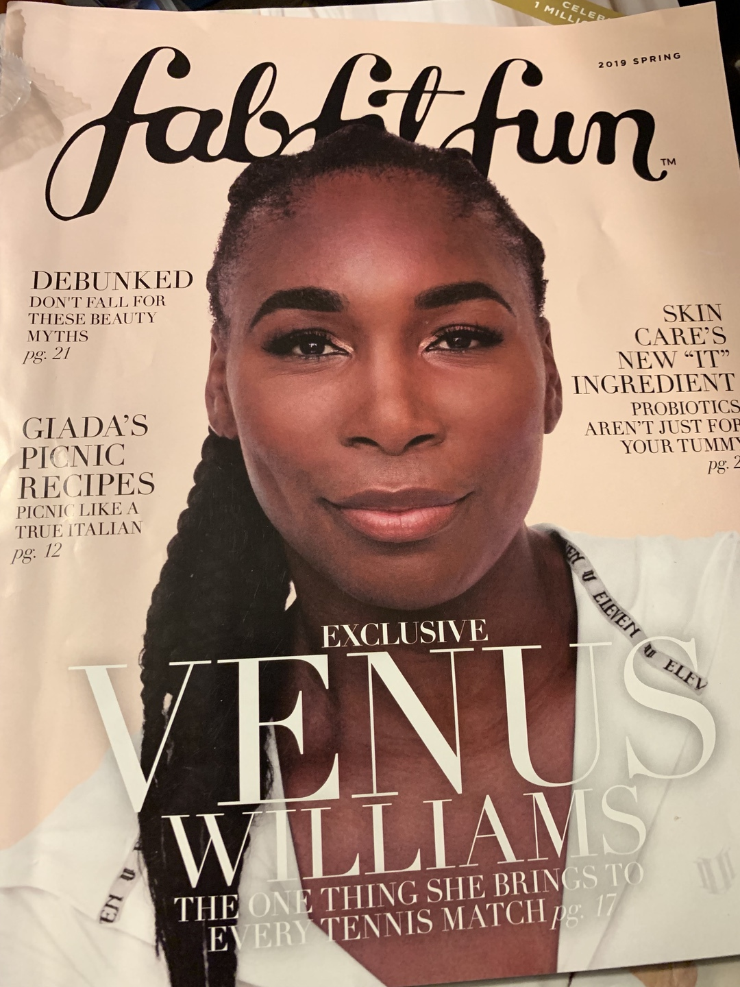 A close up of a magazine from FabFitFun