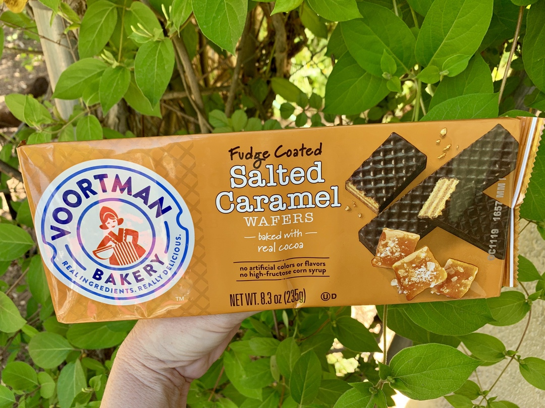 Voortman Bakery Fudge Coated Salted Caramel Wafers in package