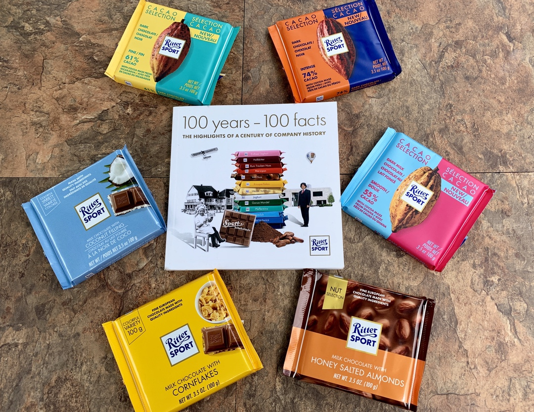 Chocolate packages with book