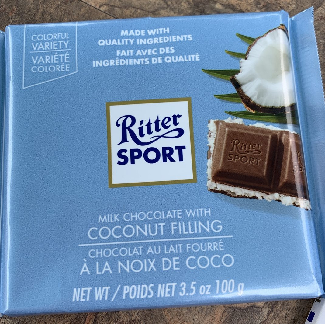Ritter Sport Chocolate - Coconut Filling