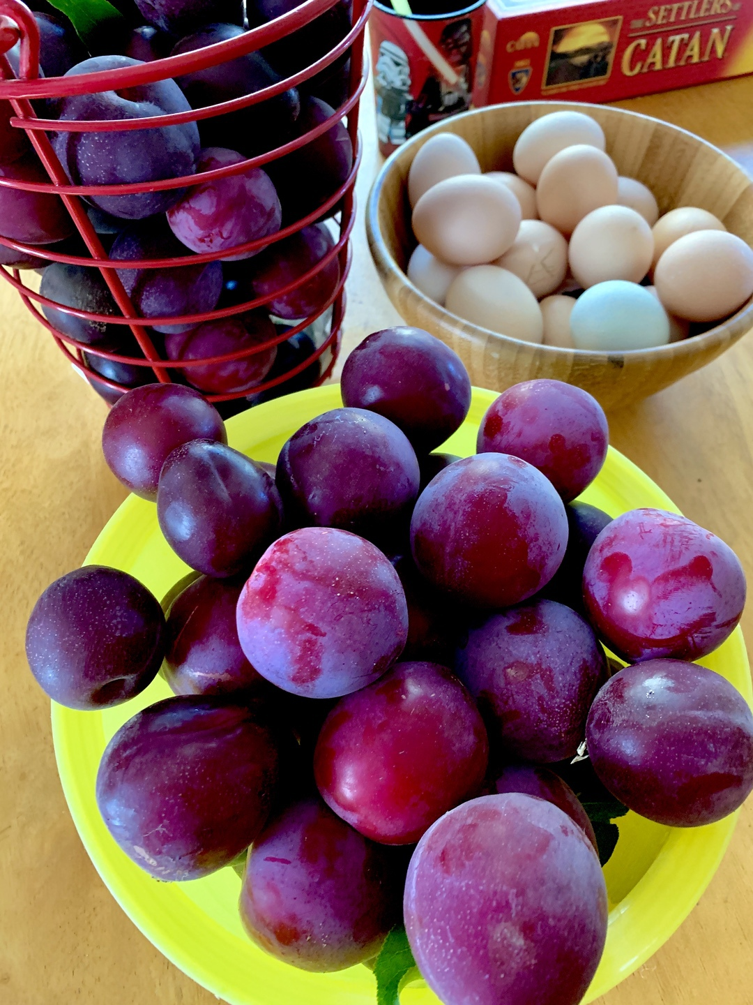 plums and eggs