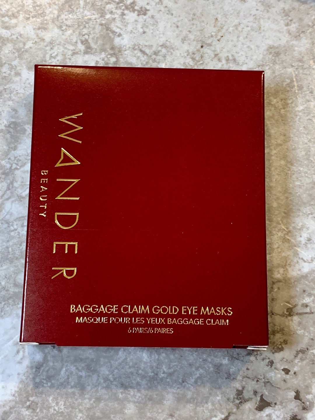 FabFitFun 2019 - Wander Beauty Baggage Claim Gold Eye Mask 6 Pack
