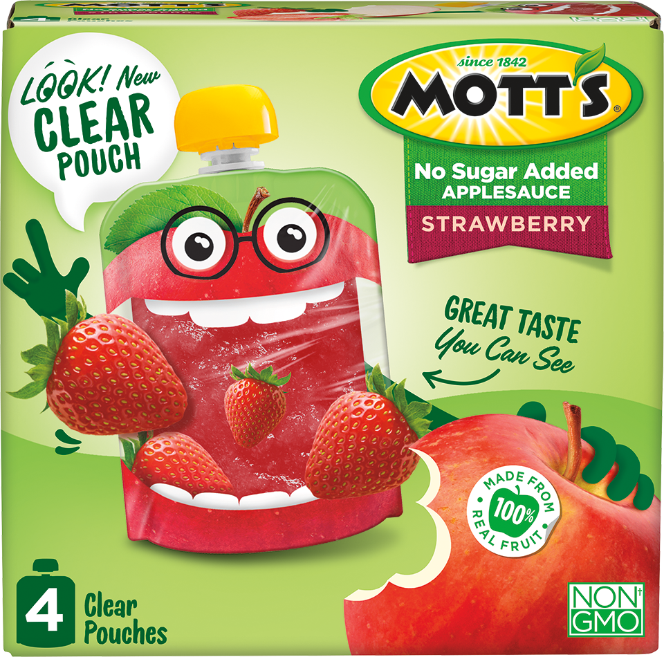 Mott's Clear Applesauce Pouches