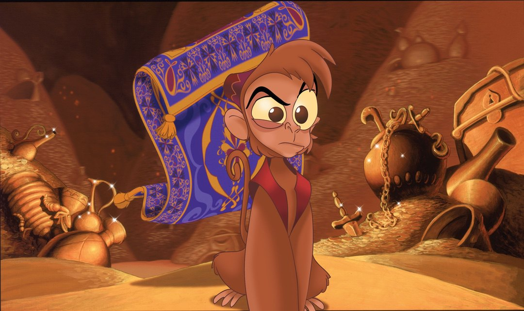Abu and Carpet in Aladdin