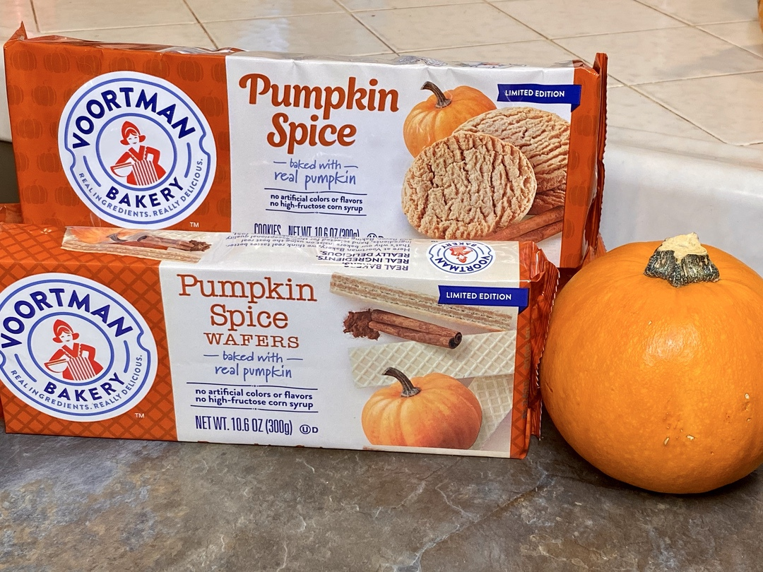 Pumpkin Spice Cookies and Wafers at Voortman Bakery
