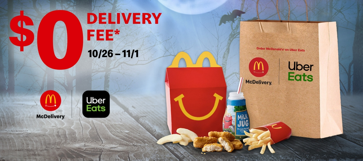 McDonald's Halloween Dinner with McDelivery