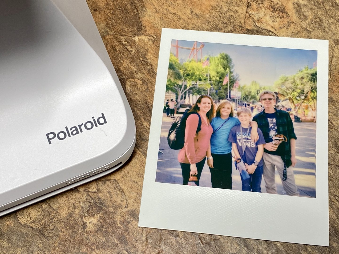 Polaroid Originals Lab Printer with polaroid picture