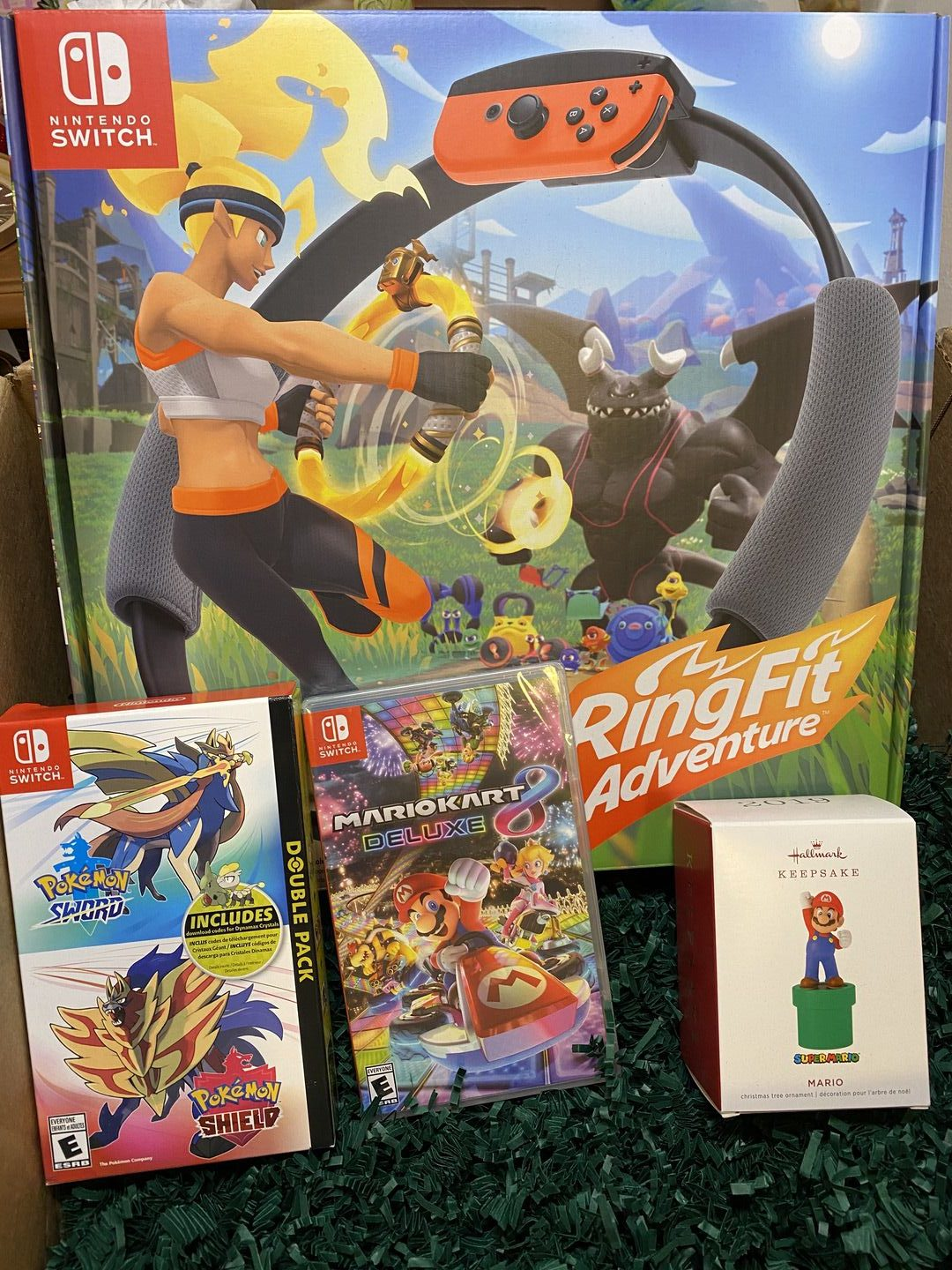 Nintendo Switch MarioKart Pokemon Sword and Pokemon Shield