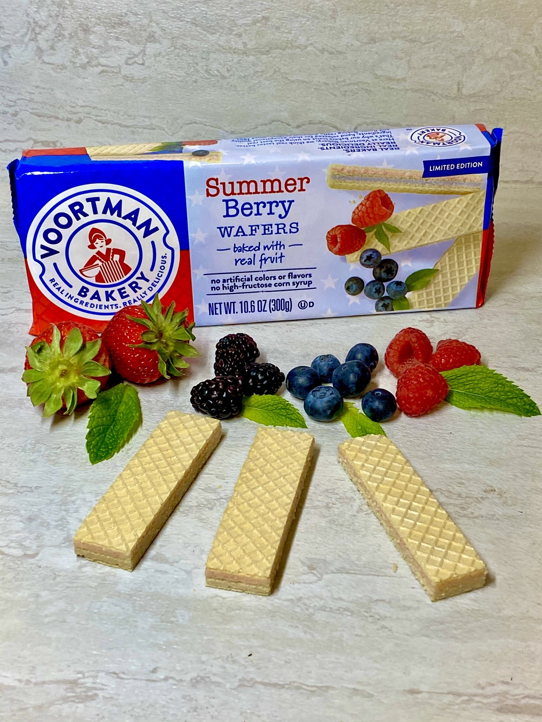 Voortman Bakery Summer Berry Wafers