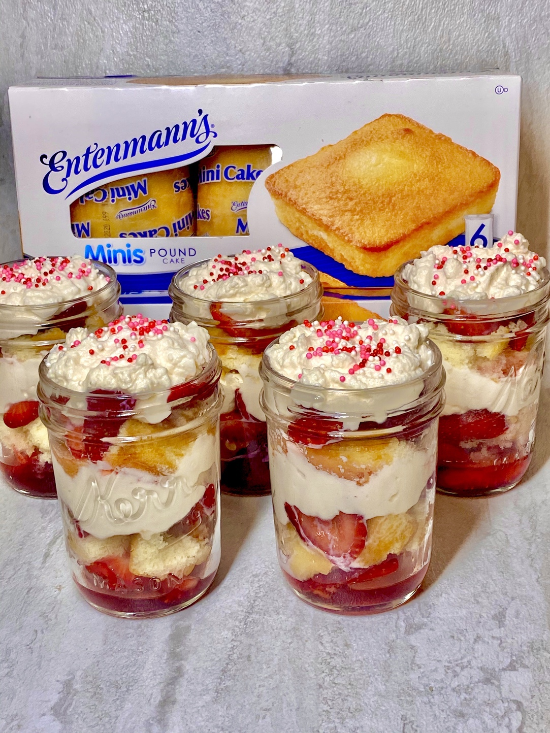 Strawberry Shortcake in a Jar Recipe with Entenmann's