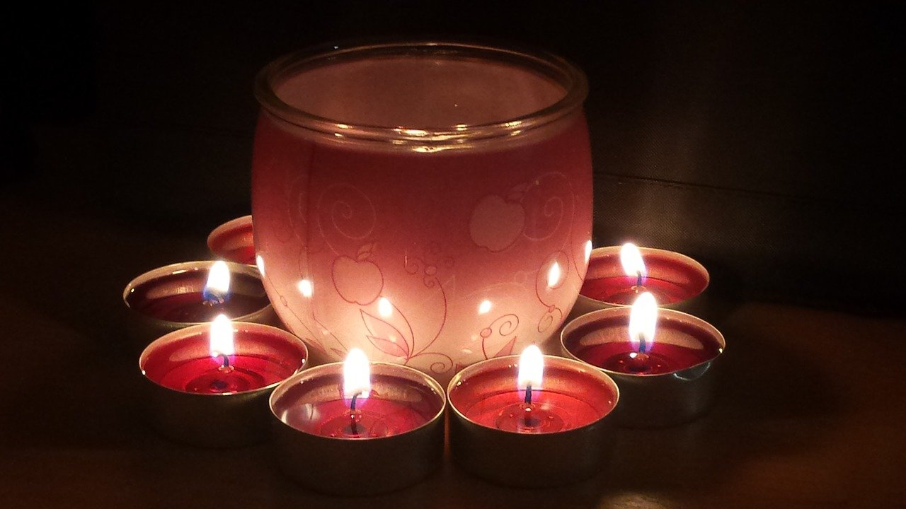 Burning Candle at Home