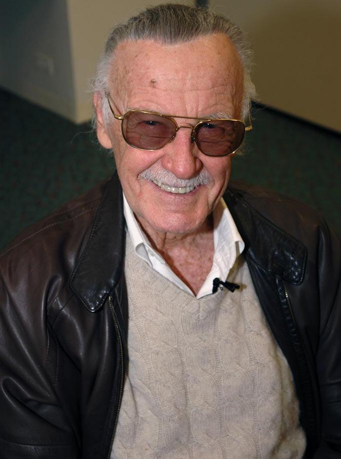 Stan Lee wearing glasses