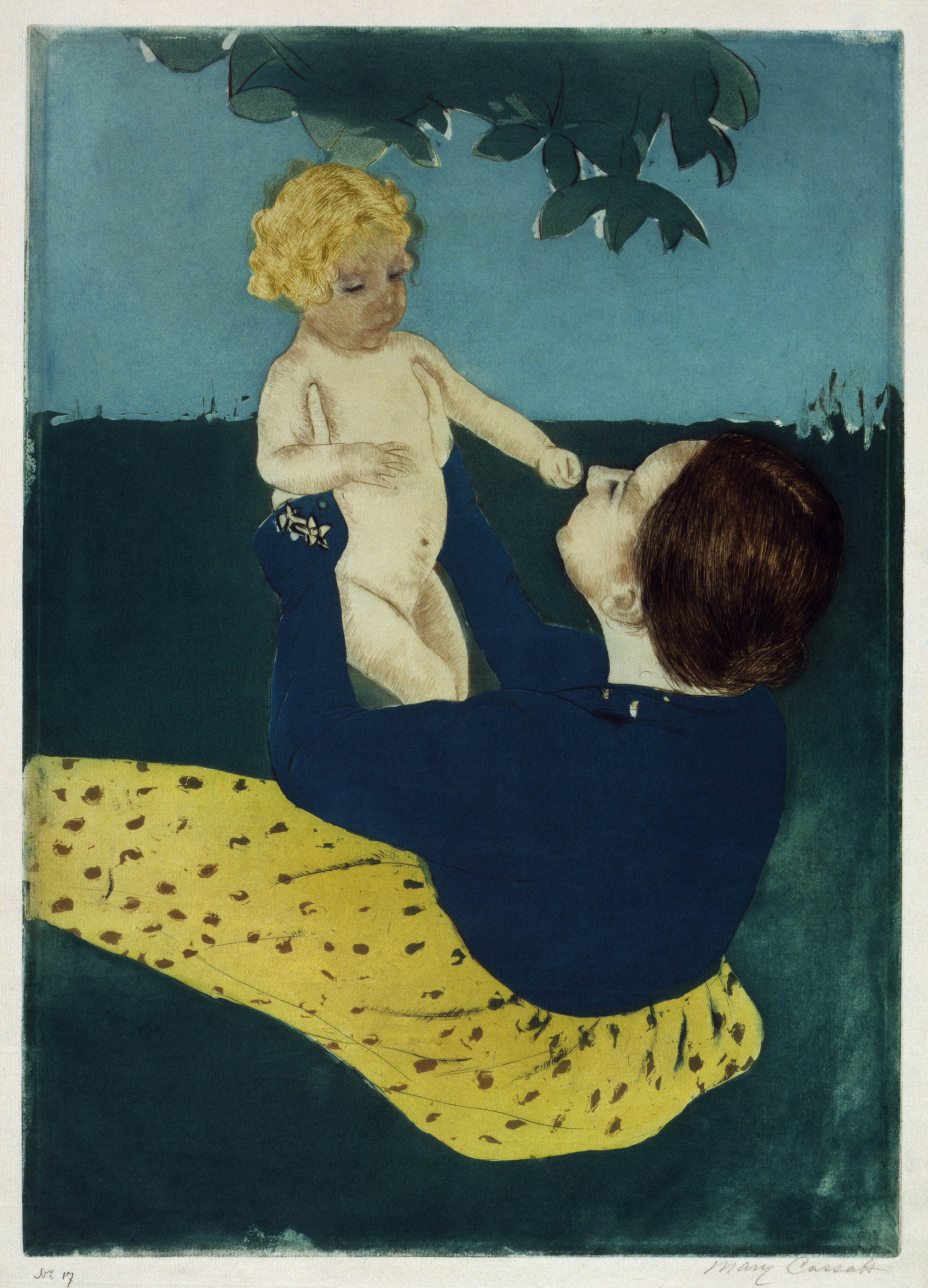 painting of parent holding child